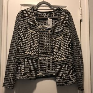 NEW H&M Black and White Sweater jacket.